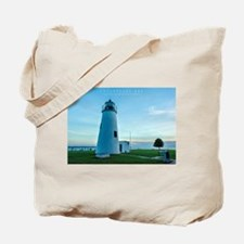 Turkey Point Light Maryland. Tote Bag