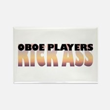 Oboe Players Kick Ass Rectangle Magnet