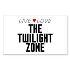 Live Love The Twilight Zone Rectangle Decal
