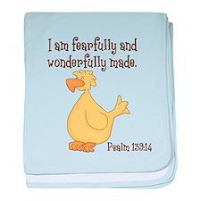 Psalm 139:14 Duck baby blanket