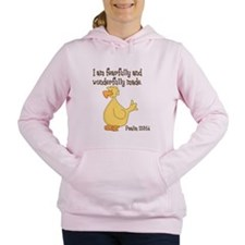 Psalm 139:14 Duck Women's Hooded Sweatshirt
