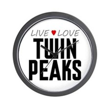 Live Love Twin Peaks Wall Clock