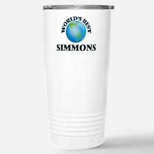 World's Best Simmons Stainless Steel Travel Mug