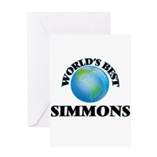 World's Best Simmons Greeting Cards