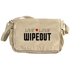 Live Love Wipeout Canvas Messenger Bag