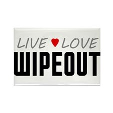 Live Love Wipeout Rectangle Magnet