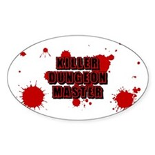 """""""Killer Dungeon Master"""" Oval Decal"""