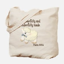 Wonderfully Made Sheep Tote Bag