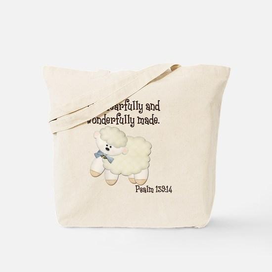 Wonderfully Made Sheep Tote Bag