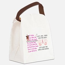 Breast Cancer Think Pink Duo Canvas Lunch Bag