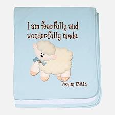 Wonderfully Made Sheep baby blanket