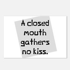 Closed mouth no kiss Postcards (Package of 8)