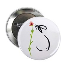 "single pink flower 2.25"" Button"