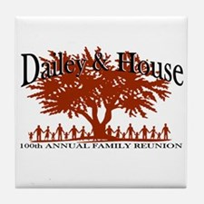 Dailey and House Reunion Tile Coaster