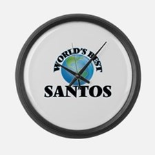 World's Best Santos Large Wall Clock