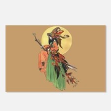 autumn witch Postcards (Package of 8)