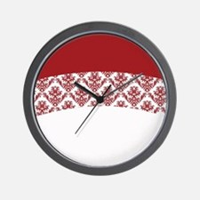 Red Lace Wall Clock