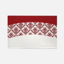 Red Lace Rectangle Magnet