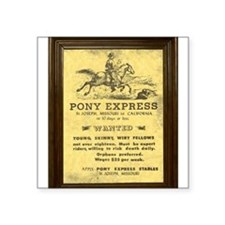Pony Express Vintage Poster with frame Sticker