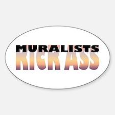 Muralists Kick Ass Oval Decal