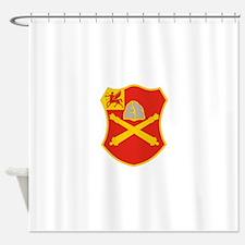 10 Field Artillery Regiment.psd.png Shower Curtain