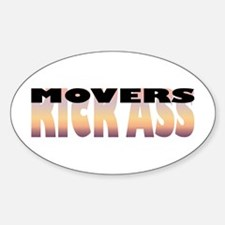 Movers Kick Ass Oval Decal