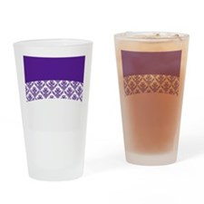 Purple Lace Drinking Glass