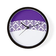 Purple Lace Wall Clock
