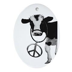 Peace Cow (Christmas Tree Ornament)