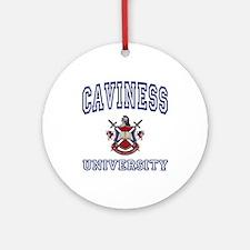 CAVINESS University Ornament (Round)