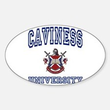 CAVINESS University Oval Decal