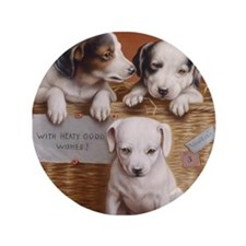 """With Hearty Good Wishes 3.5"""" Button (100 pack)"""