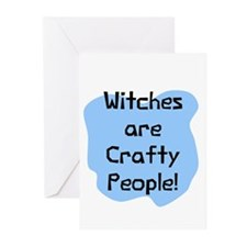 Crafty people witches Greeting Cards (Pk of 10