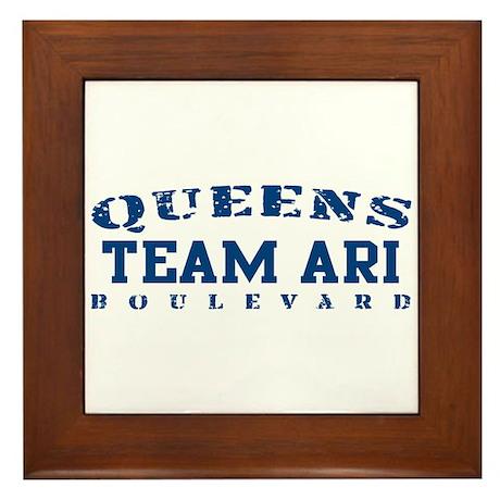 Team Ari - Queens Blvd Framed Tile