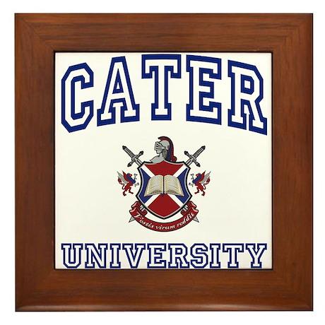 CATER University Framed Tile