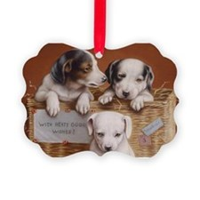 With Hearty Good Wishes Ornament