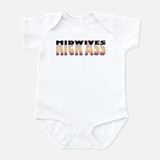 Midwives Kick Ass Infant Bodysuit