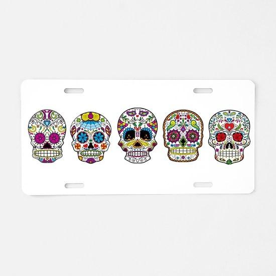 Sugar Skulls By Design Aluminum License Plate