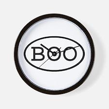 BOO Oval Wall Clock