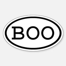 BOO Oval Oval Decal