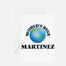World's Best Martinez Greeting Cards