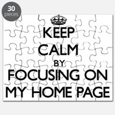Keep Calm by focusing on My Home Page Puzzle