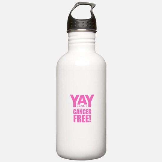 Cancer Free - Pink Water Bottle