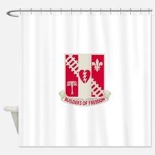 44th Army Engineer Battalion.png Shower Curtain