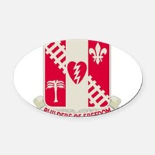44th Army Engineer Battalion.png Oval Car Magnet