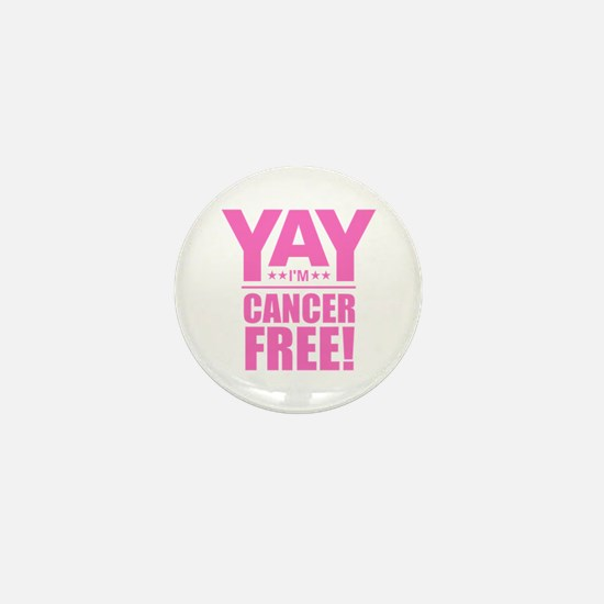 Cancer Free - Pink Mini Button