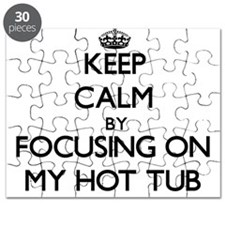 Keep Calm by focusing on My Hot Tub Puzzle