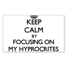Keep Calm by focusing on My Hyprocrites Decal