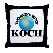 World's Best Koch Throw Pillow