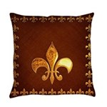 Old Leather with gold Fleur-de-Lys Master Pillow
